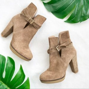 Zara cut out heeled ankle boots booties